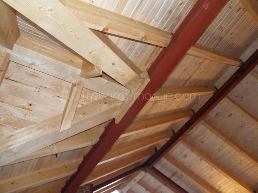 Tejados pizarra segovia pizarras mart n for Tejados madera segovia